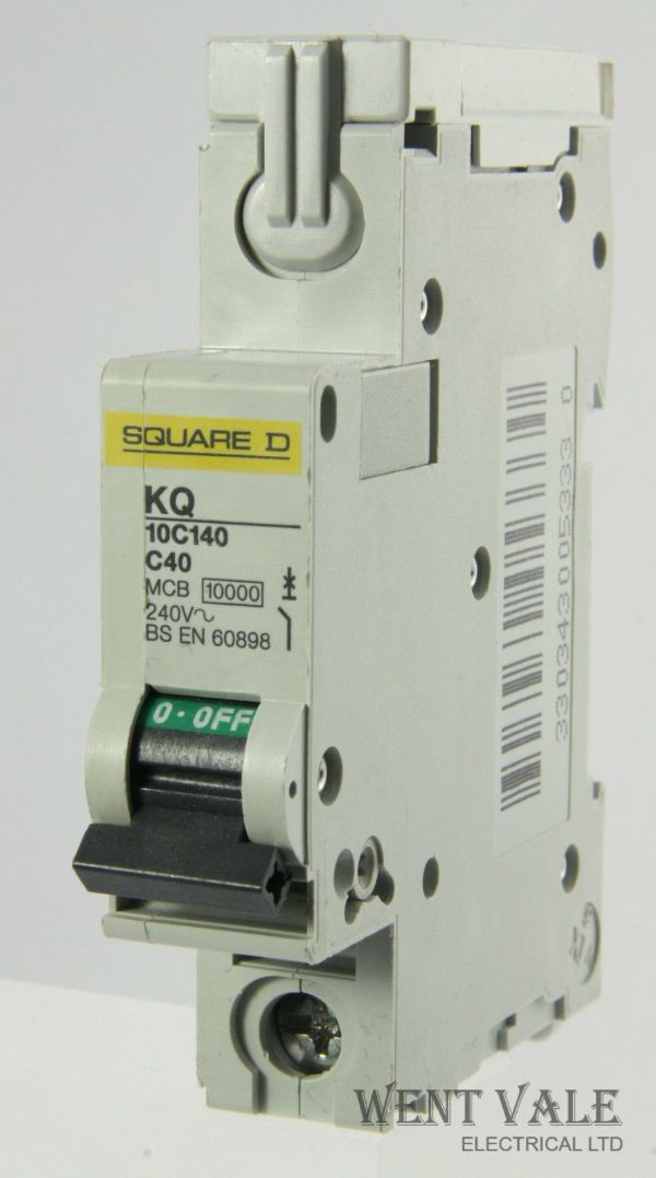 Square D Loadcentre - KQ10C140 - 40a Type C Single Pole MCB Unused
